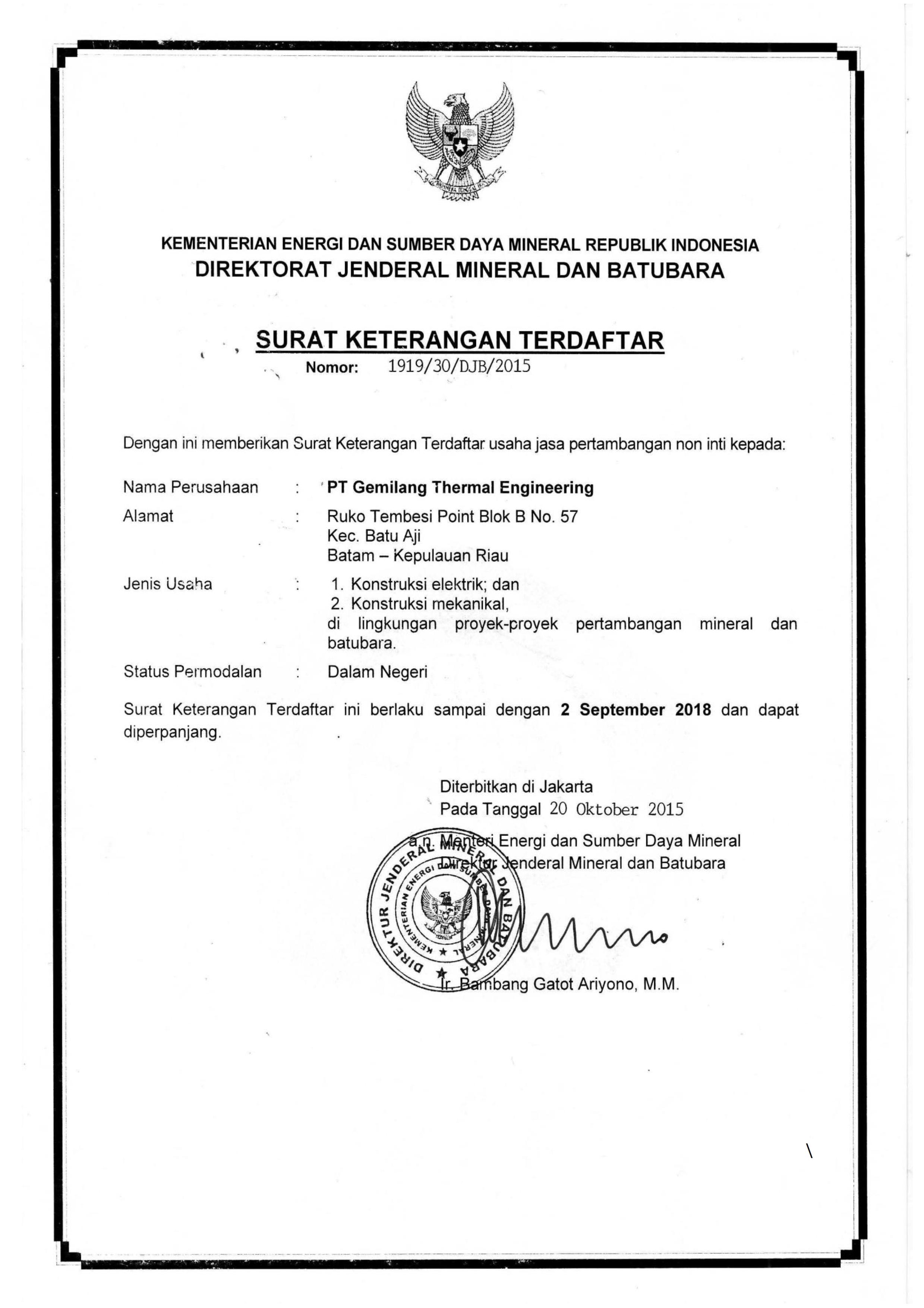 SKT Pertambangan Electrical & Mechanical